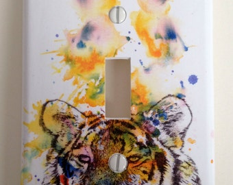 Tiger Decorative Light Switch Cover Great Kids Room Decor Baby Nursery Art Decor And of Course Everyone