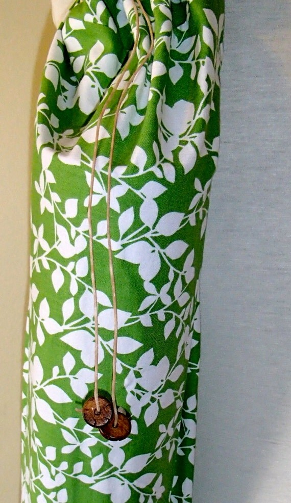 Yoga Mat Bag  Yoga Mat Tote Yog Bag Green and White Leaves standard size