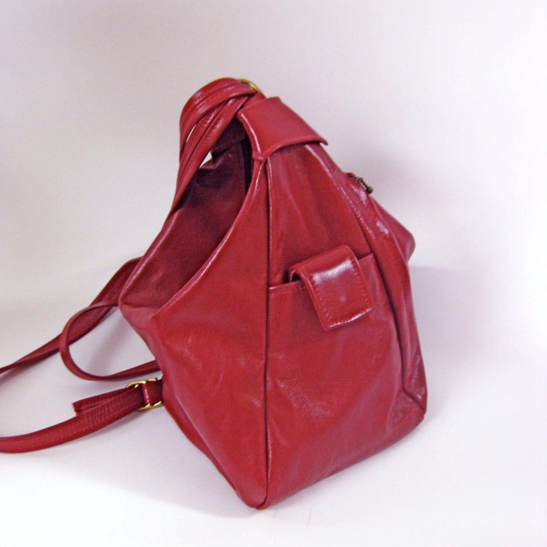 Convertible Leather Backpack Purse /Handbag /ShoulderBag
