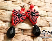 Mystic Oriental Red Knot Earrings