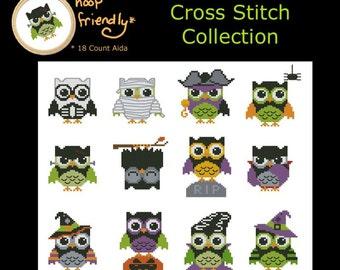 Hootie Spookies Mini Collection Cross Stitch PDF Chart