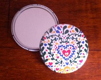 Heart Pocket Mirror