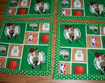 Boston Celtics Quilted Coasters Set of 4