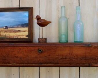 READY TO SHIP - Reclaimed Wood - Wall Shelf - Farmhouse Chic - Shelves - Source: Kansas City Bleacher Boards - 40 x 7.5 Deep x 4 Tall