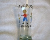 Handpainted Personalized Father's Day Glass, handpainted pilsner, painted glassware, personalized glass, personalized gift