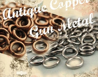 Antique Copper or Gunmetal Jump Rings 20 gauge 5mm OD - Best Commercially Made - 100% Guarantee