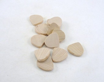 Wooden tear drop unfinished diy set of 12