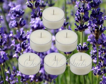 VANILLA LAVENDER Tea Light Candles T Lite Candles Scented Tea Lights Scented T Lites