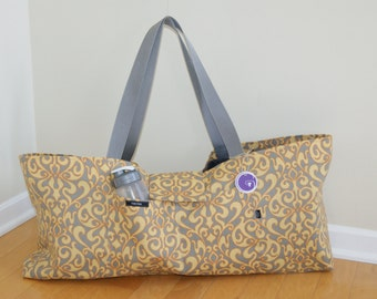 Xlarge Yoga Bag lined with felt made from recycled plastic material-Made to Order .