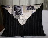 "French Chic ""Ooh La La"" Large Envelope Style Cushion - Tassel and Separate Cushion Insert"