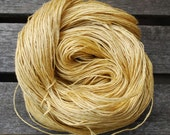 Hand dyed pure Linen yarn - Heavy Lace Weight - Straw