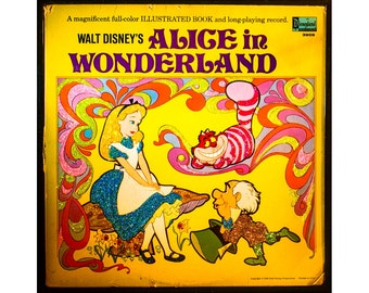 Glittered Alice in Wonderland Album (yellow)