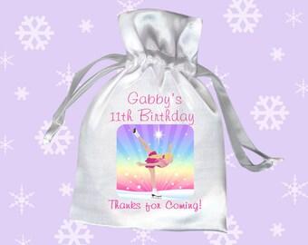 Ice Skating Birthday Party Favor Bags (Pack of 10) - Skating Dreams