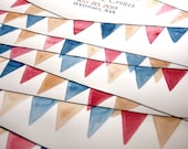 Watercolor Guest Book Alternative painting - Custom wedding guest book idea pennant triangles - Pennant Banner painting