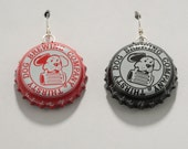 Beer Cap Earrings Thirsty Dog Brewing Company Sterling Wires