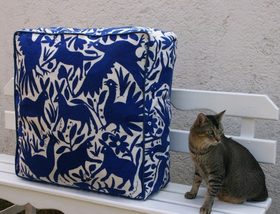 Cobalt Blue Pouf  Ready to ship original Floor Cushion
