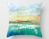 Beach Art Pillow Cover 16x16, 18x18 or 20x20