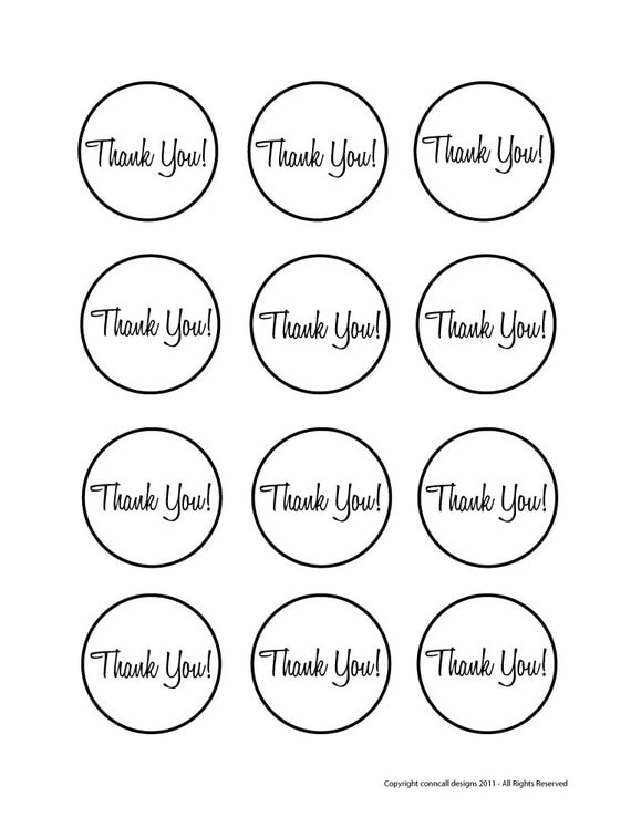 Wedding Favor Labels Template – Sean