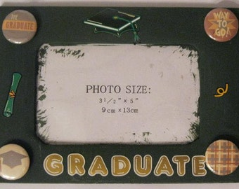 Green Graduate Altered Photo Frame
