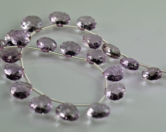 Pink Amethyst Concave Heart Shaped Briolettes  AAA