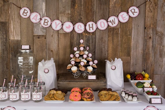 Baby shower decorations baby shower banner party sign - Deco pour baby shower ...