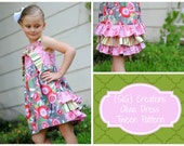 INSTANT Download PDF SIG Olivia Knot Dress Pattern - Size 6 youth to 14 youth tween girl