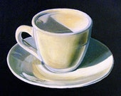 Coffee Kitchen Art Print--Espresso Cup--From Original Oil Painting - workingwoman