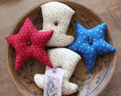 Uncle Sam Primiitive Hats and stars  Ornies/Bowl fillers
