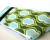 Personalized Cosmetic Makeup Bag - Doublemint - Made to Order