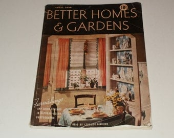 Vintage Better Homes and Gardens Magazine April 1938 - Retro Art Scrapbooking Paper Ephemera