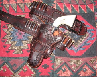 MADE TO ORDER gun belt and holster set.