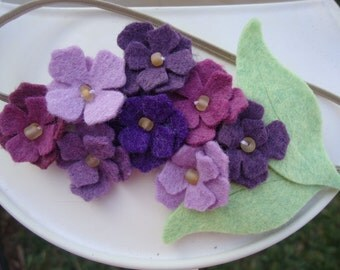 Lilac Felt Flower Headband