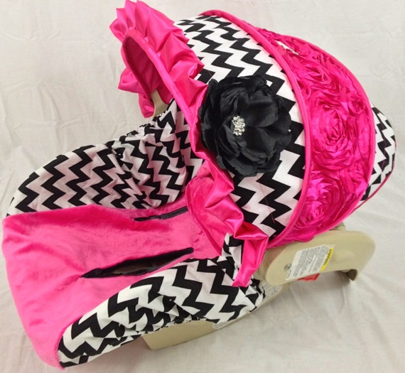 chevron infant car seat cover chevron custom by ritzybabyoriginal. Black Bedroom Furniture Sets. Home Design Ideas