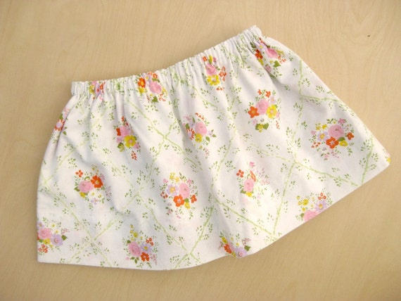 Little Girls Skirt from Vintage Upcycled Pillowcase size 2T