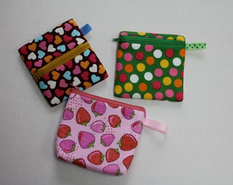 3 in 1 Mini Bags - Coin Pocket / Mini Envelope / Mini Make Up Bag PDF Pattern - Beginner Project