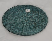 Turquoise, oval, ceramic platter