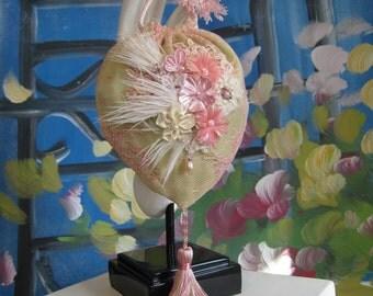 Vintage Lace Floral Silk Flapper Victorian Purse