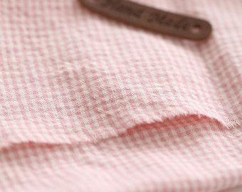 A yard, 2mm Check Pink Washing Cotton, U7018