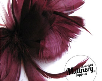Wine Goose Feather Flower Hat Trim for Fascinators, Wedding Veils and Hat Making