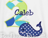Whale Shirt Birthday Shirt, Boys Whale Birthday Shirt, Custom Whale Birthday Shirt, Personalized Whale Birthday Shirt