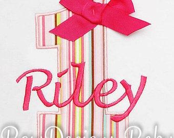 Birthday Shirt, Birthay Number Shirt, Birthday Gift, Custom Fabrics, Colors, and Font, Girls Birthday Shirt