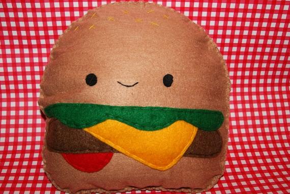 Plush Food Toys : Items similar to cute kawaii cheeseburger plush soft toy