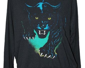 CAT SWEATSHIRT - Jaguar panther - american apparel S M L -- skip n whistle