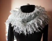 Winter Scarf Fuzzy Fashion Loop Scarf  Spring Scarf  Womens scarf  Woman's spring scarf