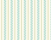 Teal and Green Vine Stripe Fabric Verona by Riley Blake by the Half Yard