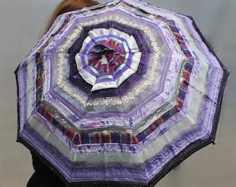 Parasol - Hand sewn Parasol of Ribbons