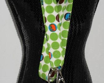 Elephant Dot ID badge holder, key chain, lanyard