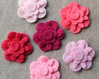 Perfectly Pink - Forget Me Not Flowers - 36 Die Cut Felt Flowers