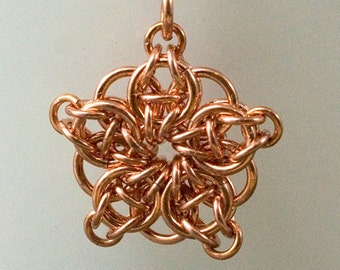 Handmade Copper Celtic Star Pendant