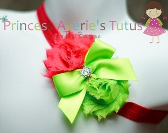 Chiffon Flower Satin Bow Jewel Headbands CUSTOM MADE